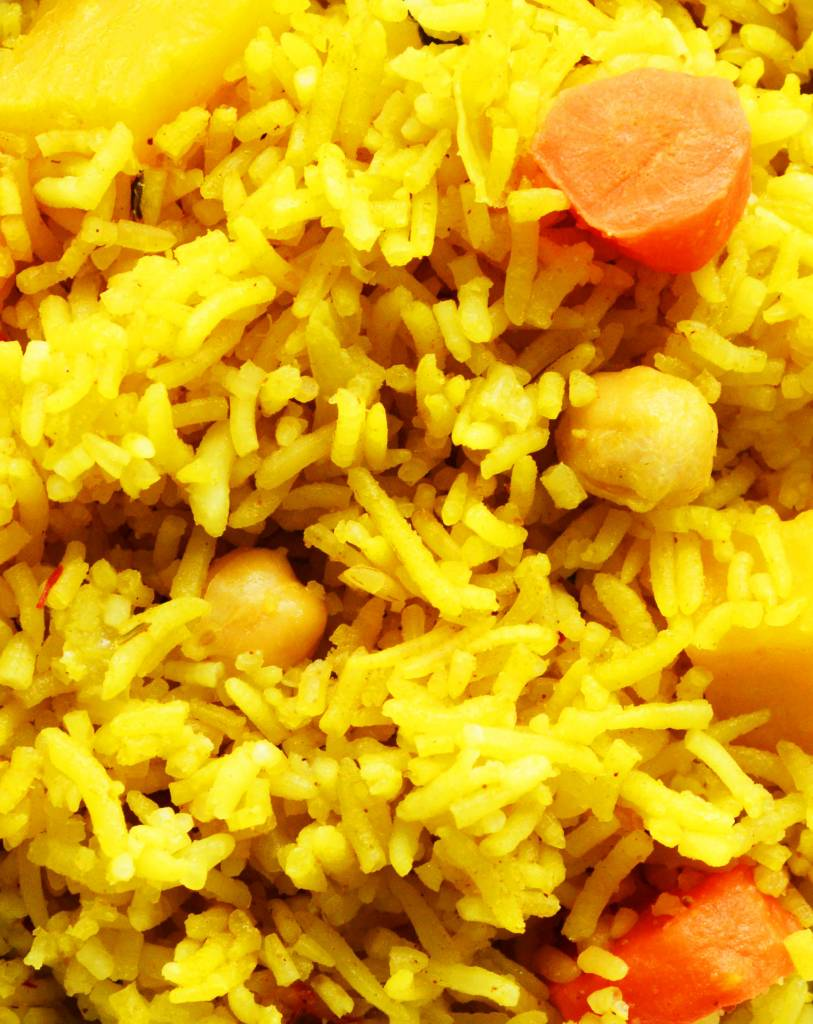 Indian rice & coconut