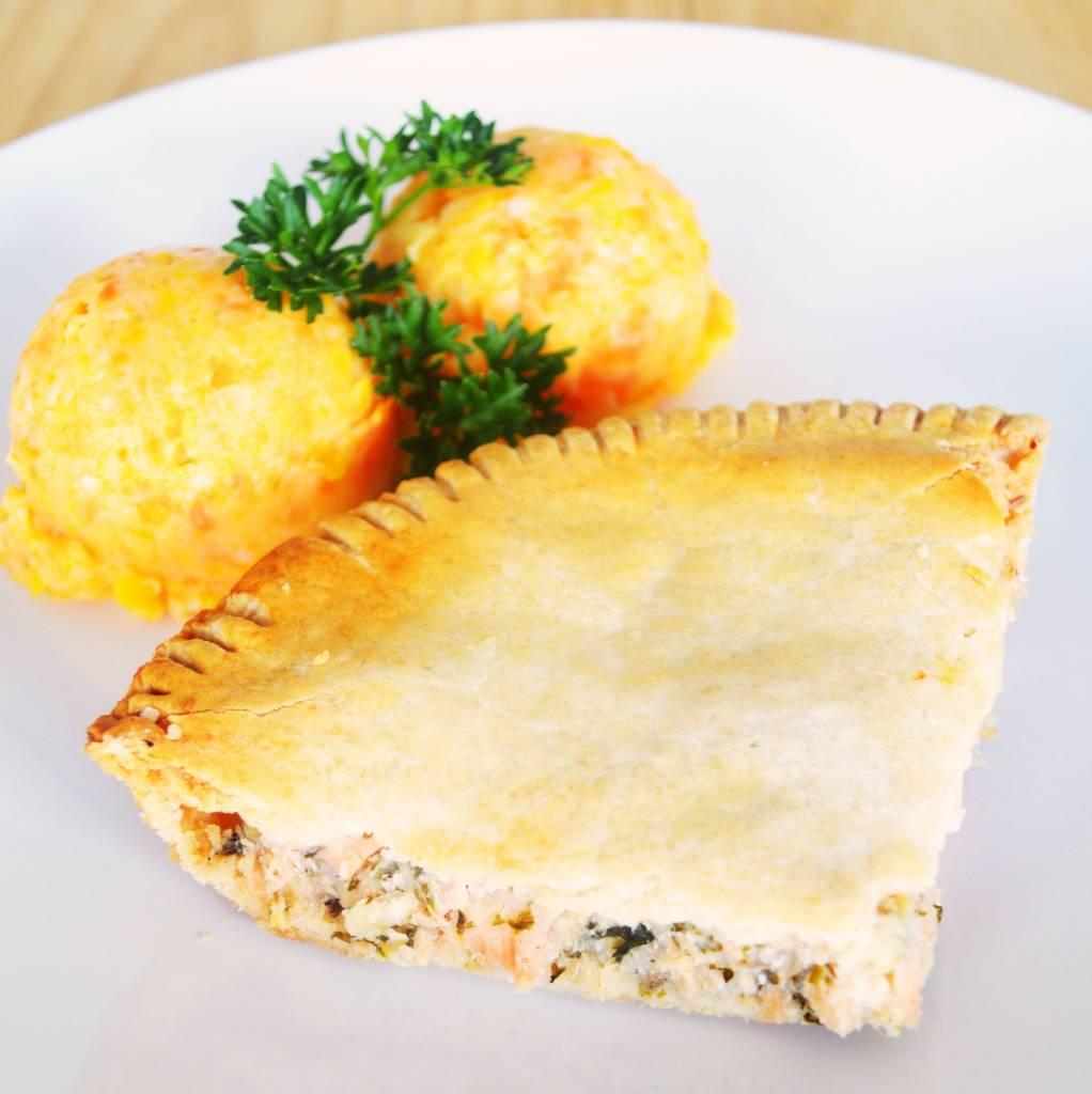 Pâté au saumon & purée aux trois légumes (325g)