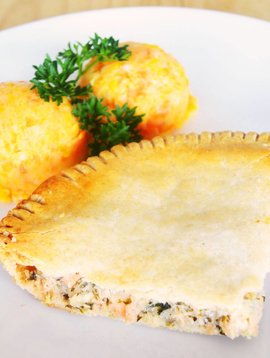 Pâté au saumon & purée aux trois légumes (175g)