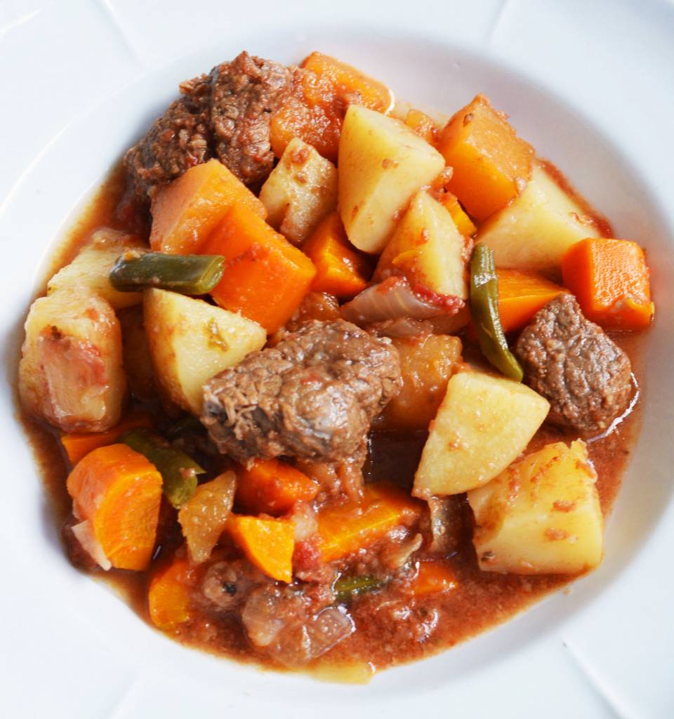 Beef stew with vegetables (175 g)