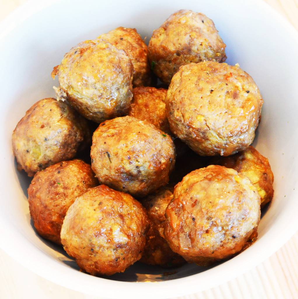 Veal meatballs with sweet and sour sauce