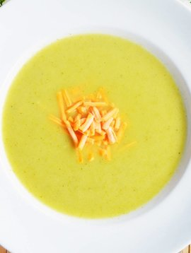 Potage de brocolis & cheddar fort