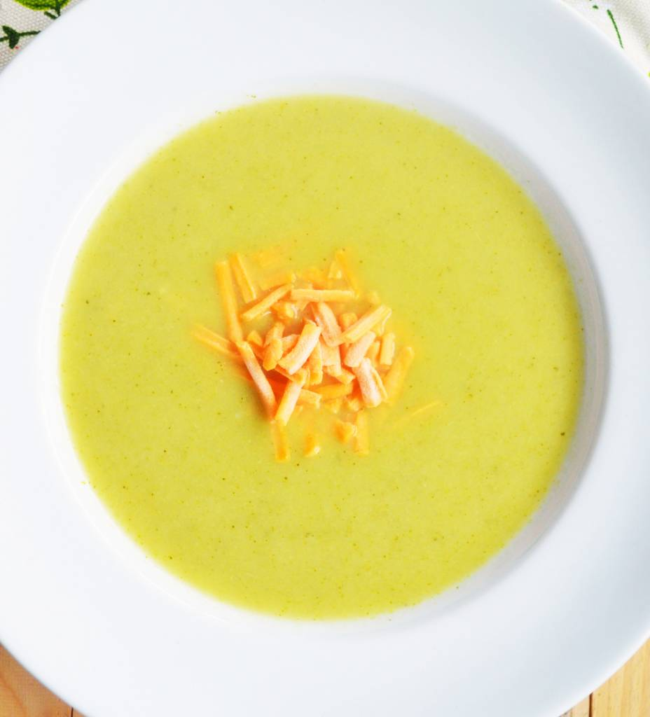 Broccoli & sharp cheddar soup