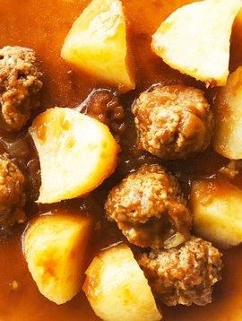 Ragoût de boulettes de veau & pommes de terre (175g)