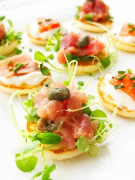French mini blinis