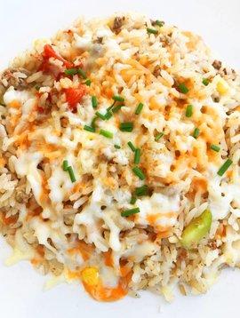 Rice, vegetables & beef gratin (175g)