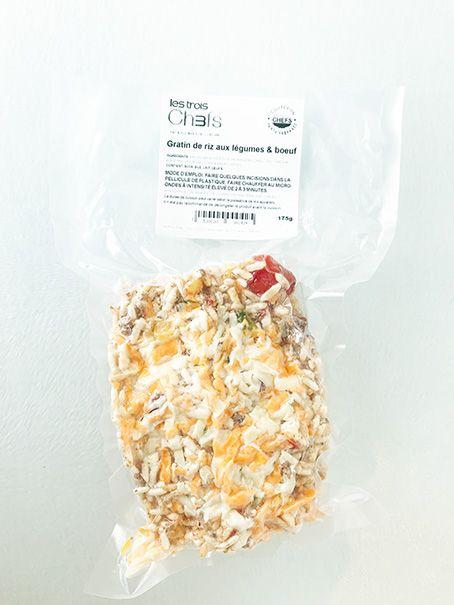 Gratin de riz aux légumes & boeuf (175 g)