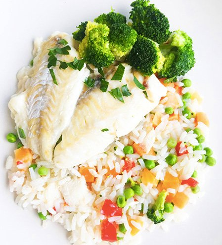 Ultra FIT Haddock, rice & vegetables