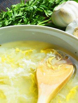 Soupe à l'ail & aux oeufs - Circulaire Janvier 2 pour 6$ (prix rég. 3.99 chaque)