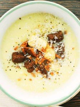 Potage de poireaux & pommes de terre