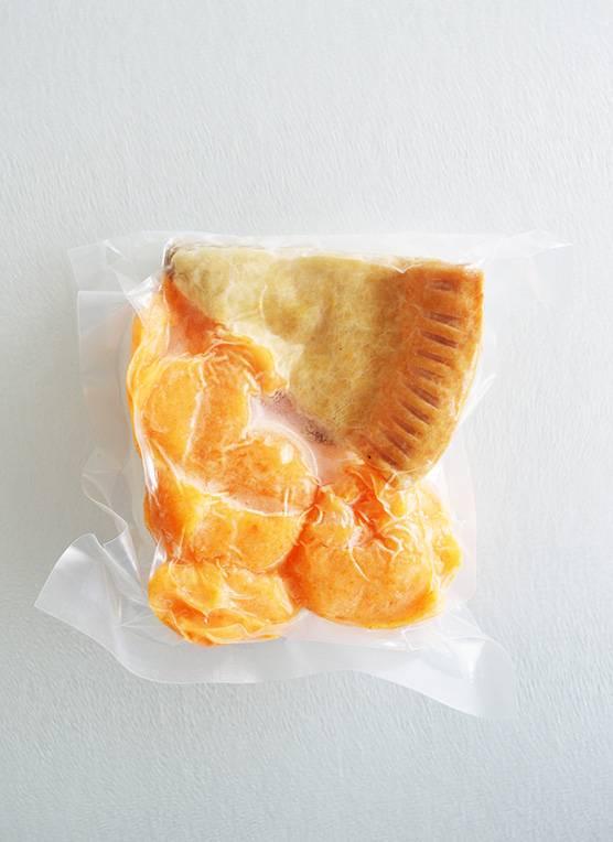 Salmon pie & three vegetables mash (175g)