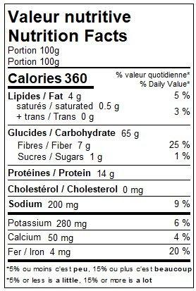 Purée de quinoa & boulgour
