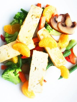 Mandarin tofu, ginger & Asian vegetables Ultra FIT