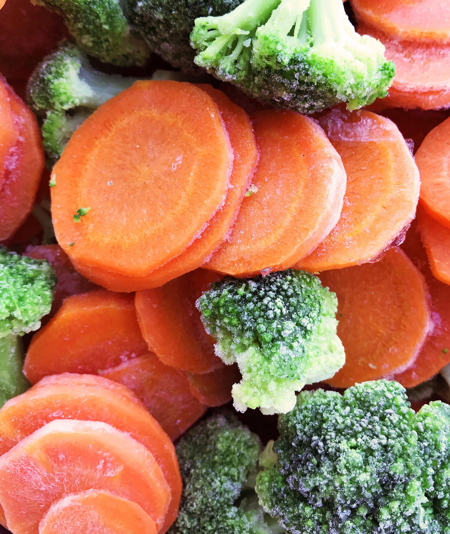 Broccoli and carrots