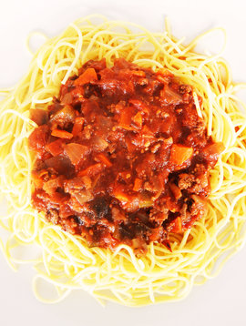 Spaghettini with meat sauce (175g)