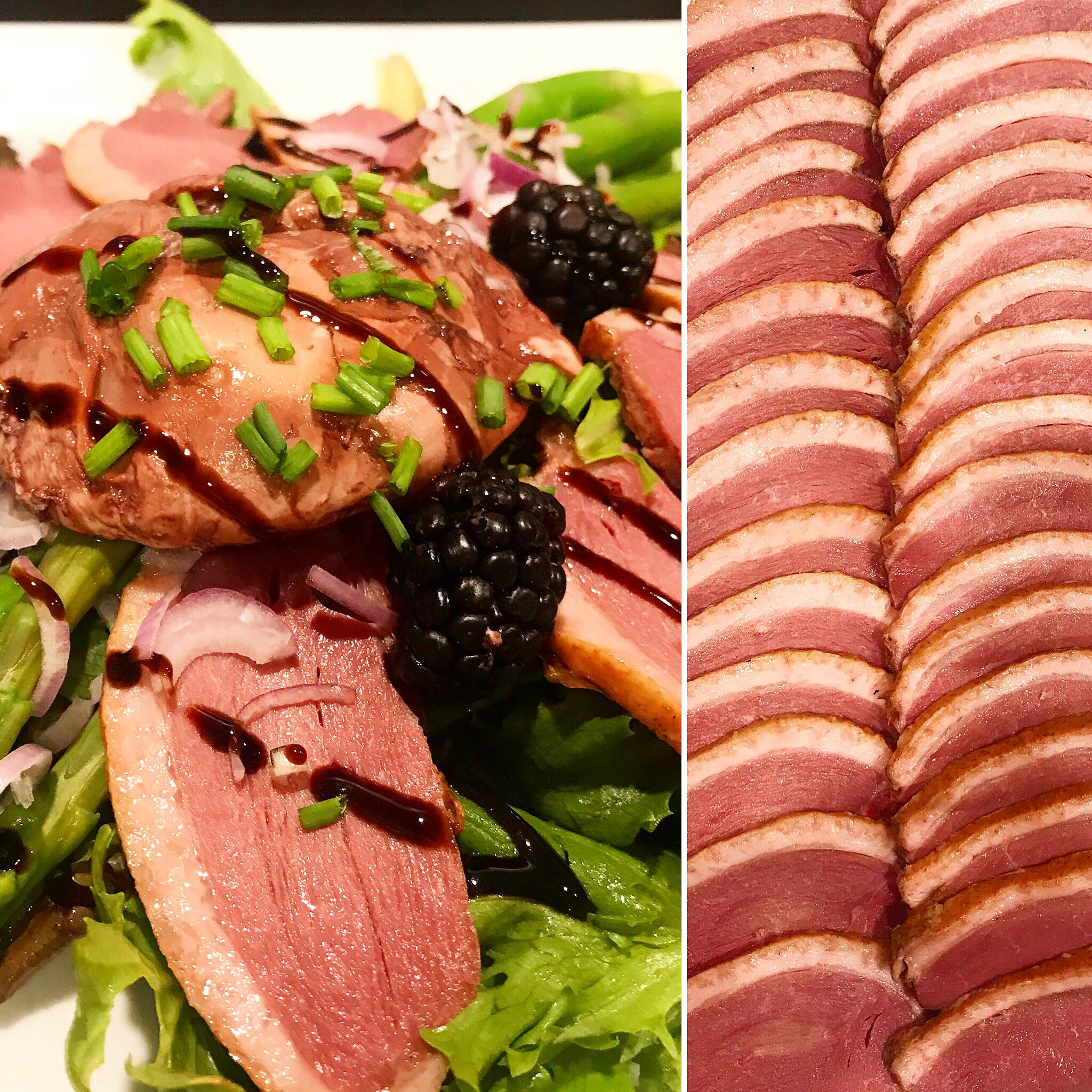 Smoked and cooked duck breast