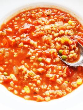 Soupe orge & légumes