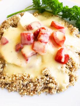 Poulet au pesto maison, aux tomates & au quinoa (325g)