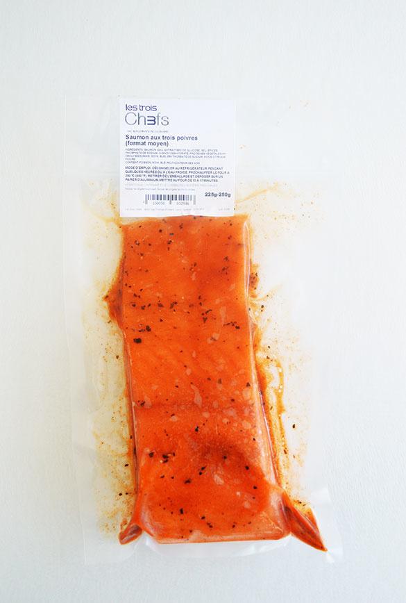 Saumon aux trois poivres (format grand)