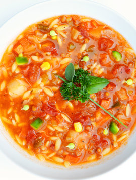 Italian orzo vegan soup meal (325g)