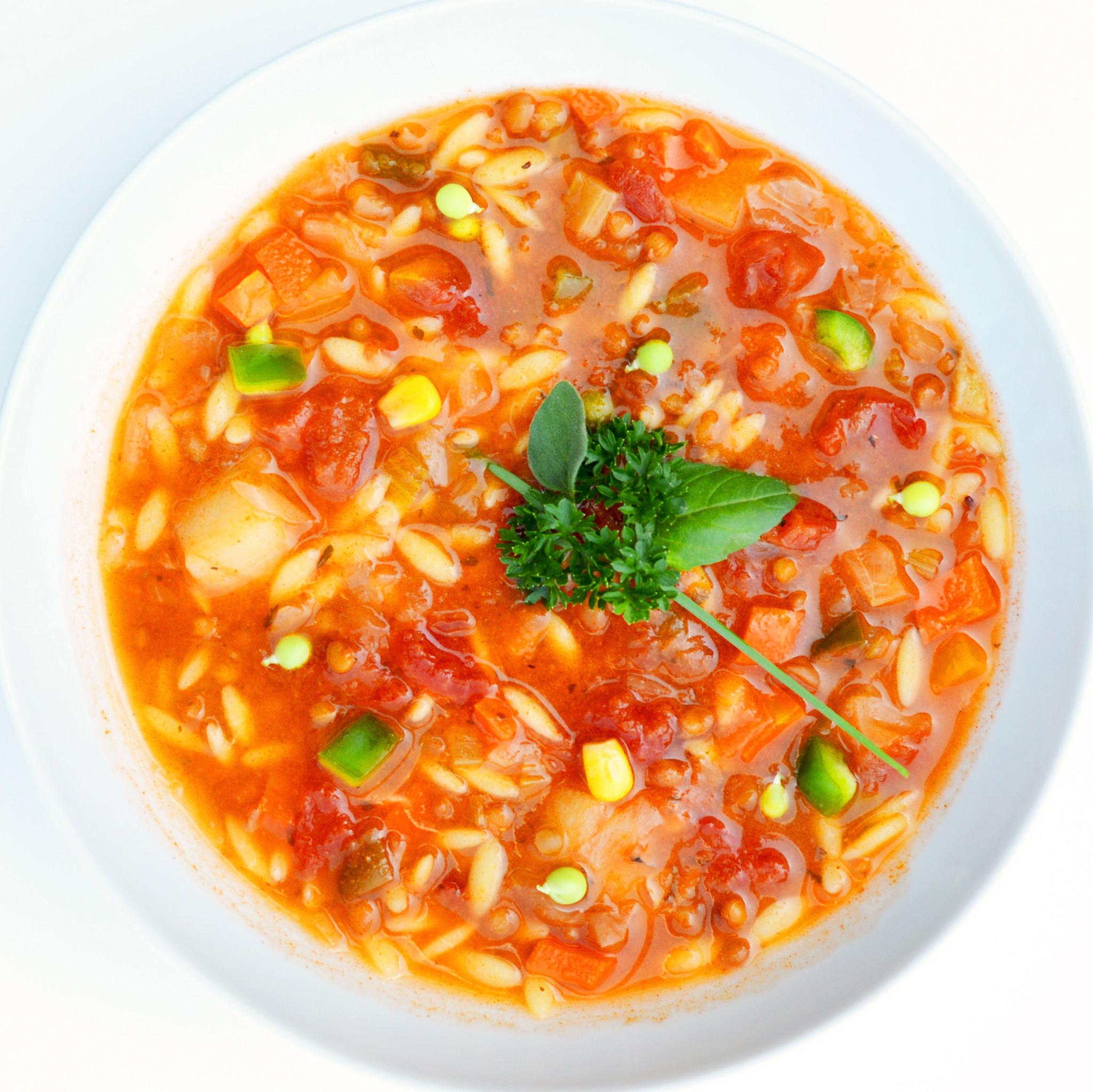 Vegan Italian-style orzo soup  (325g)