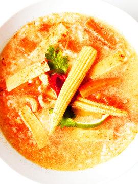 Soupe-repas thaï au cari rouge végétalienne (325g)