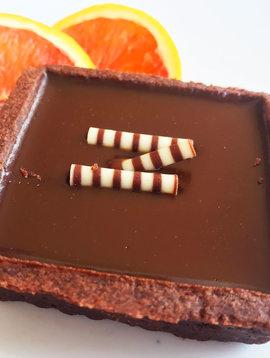 Chocolate & caramel tart