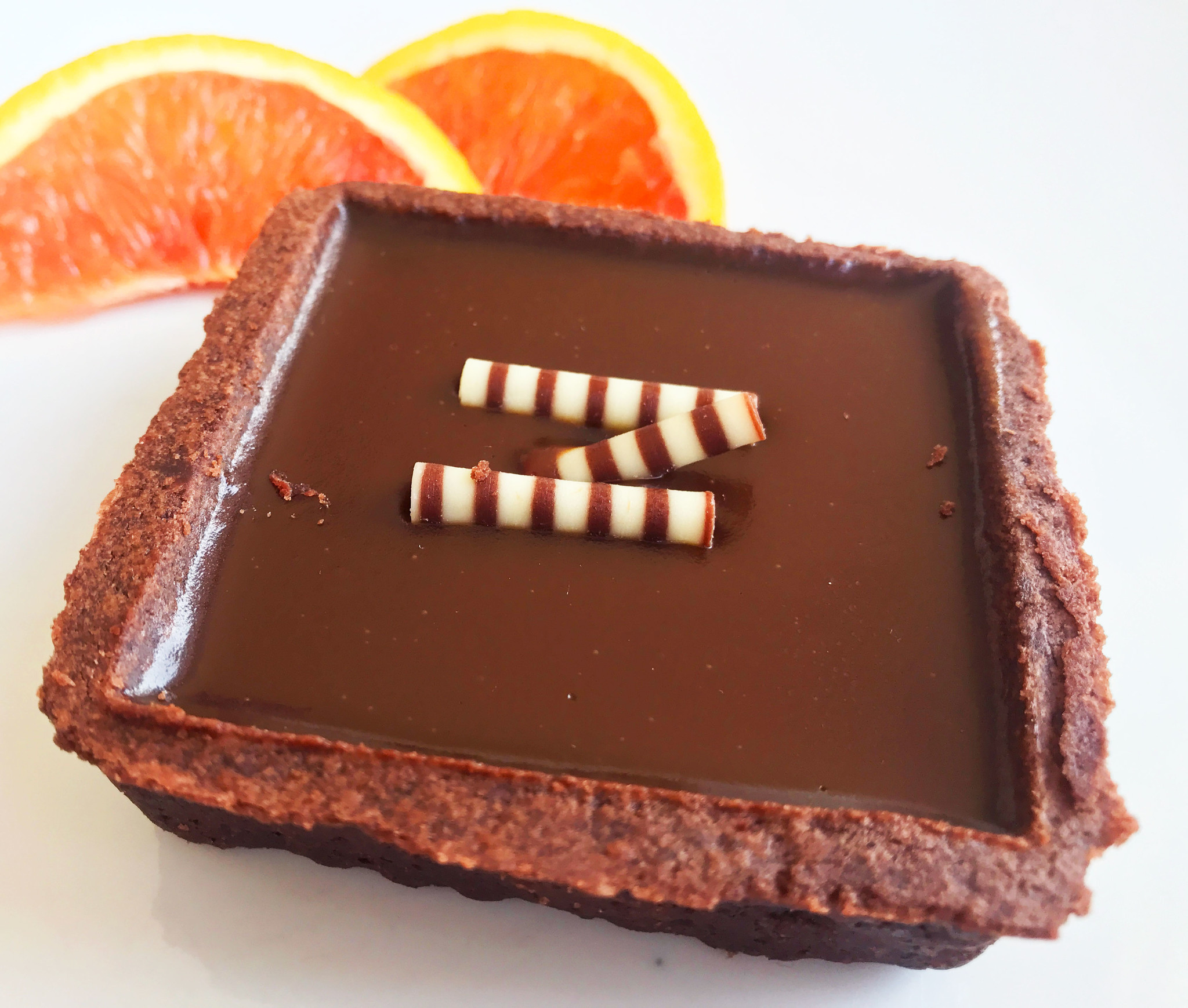 Tartelette au chocolat & au caramel