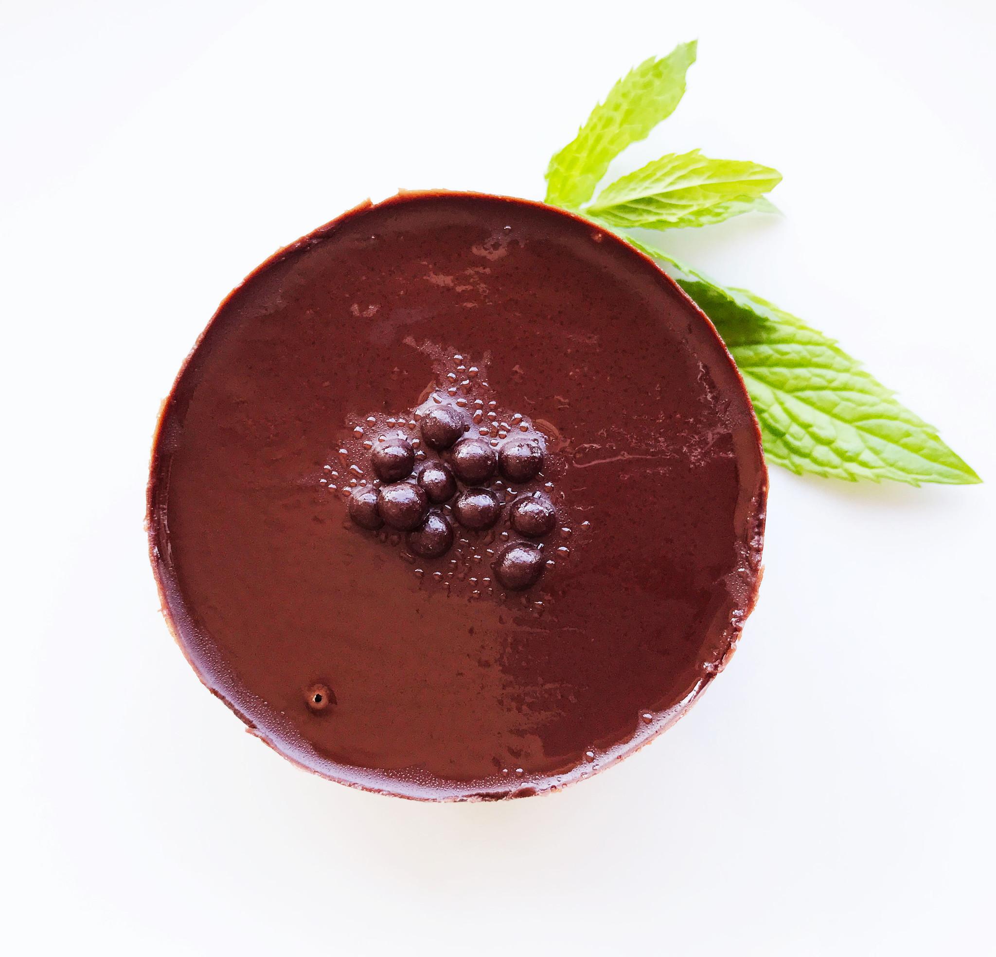 Dark chocolate entremet