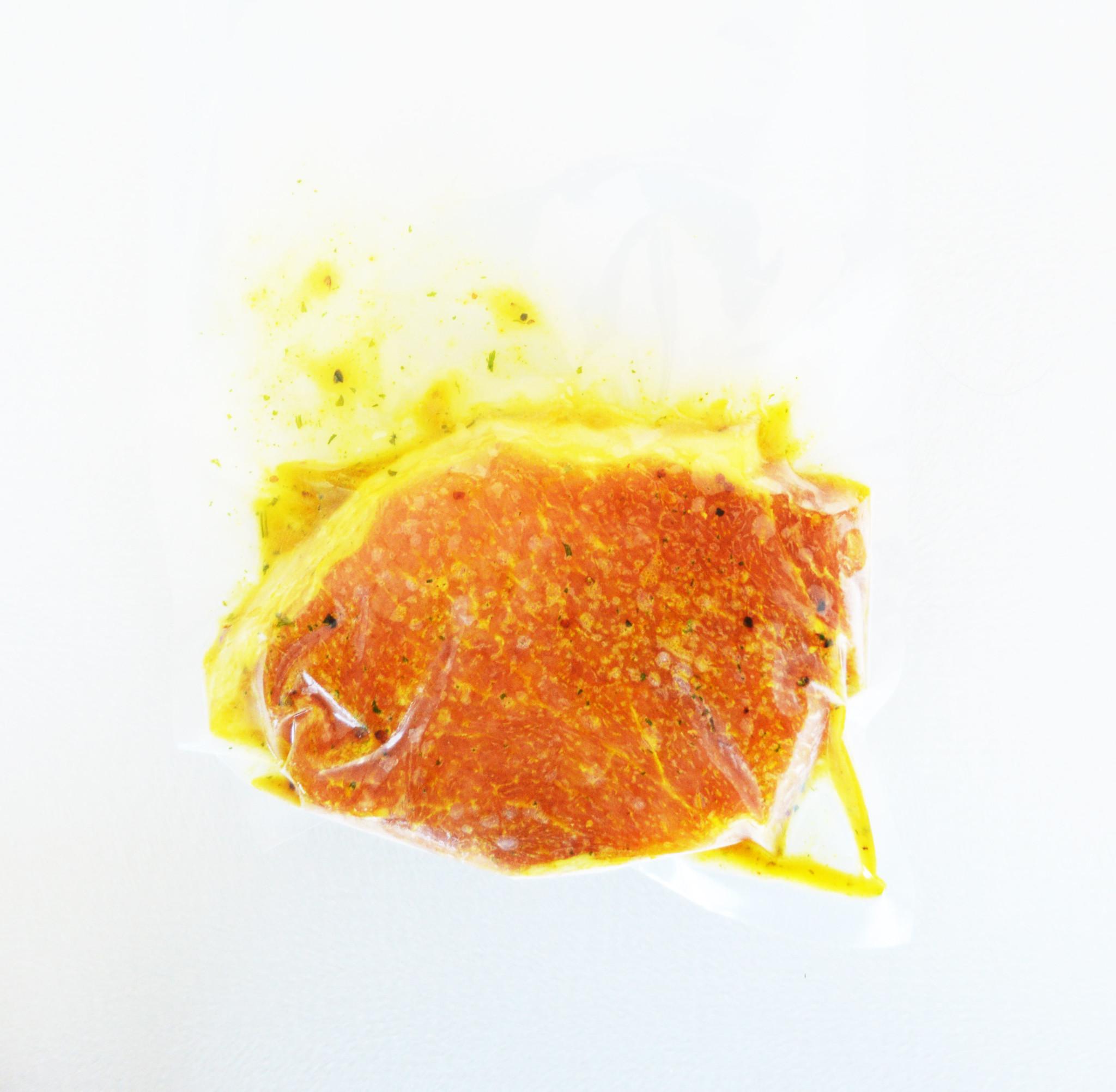 Honey & mustard pork chop