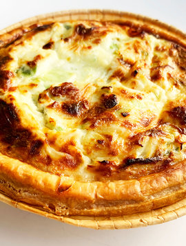 Flamiche quiche with leeks