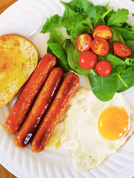 Breakfast sausages