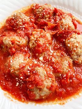 Veal meatballs & marinara sauce