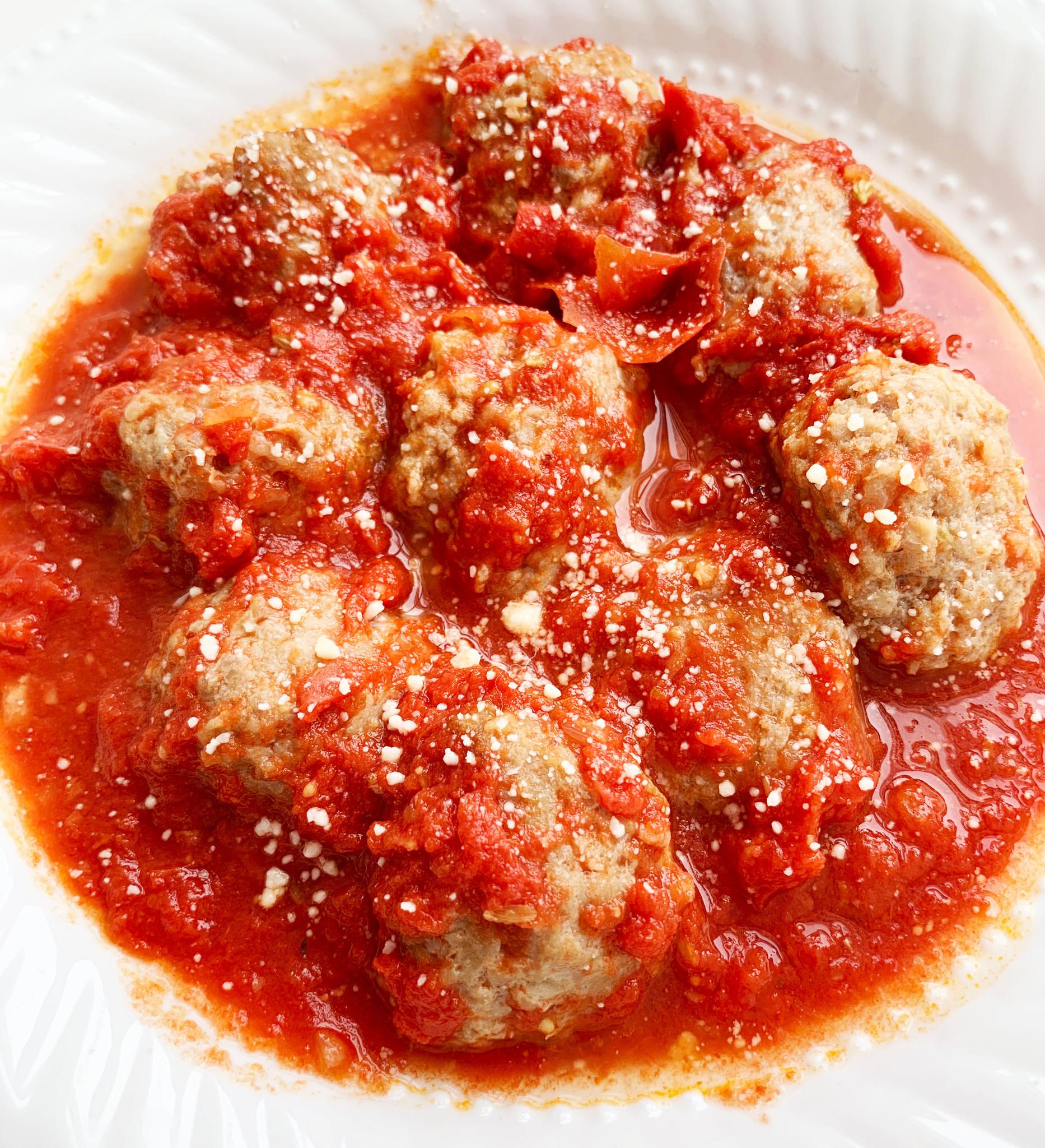 Boulettes de veau & sauce marinara (PROMO, prix régulier:10 )