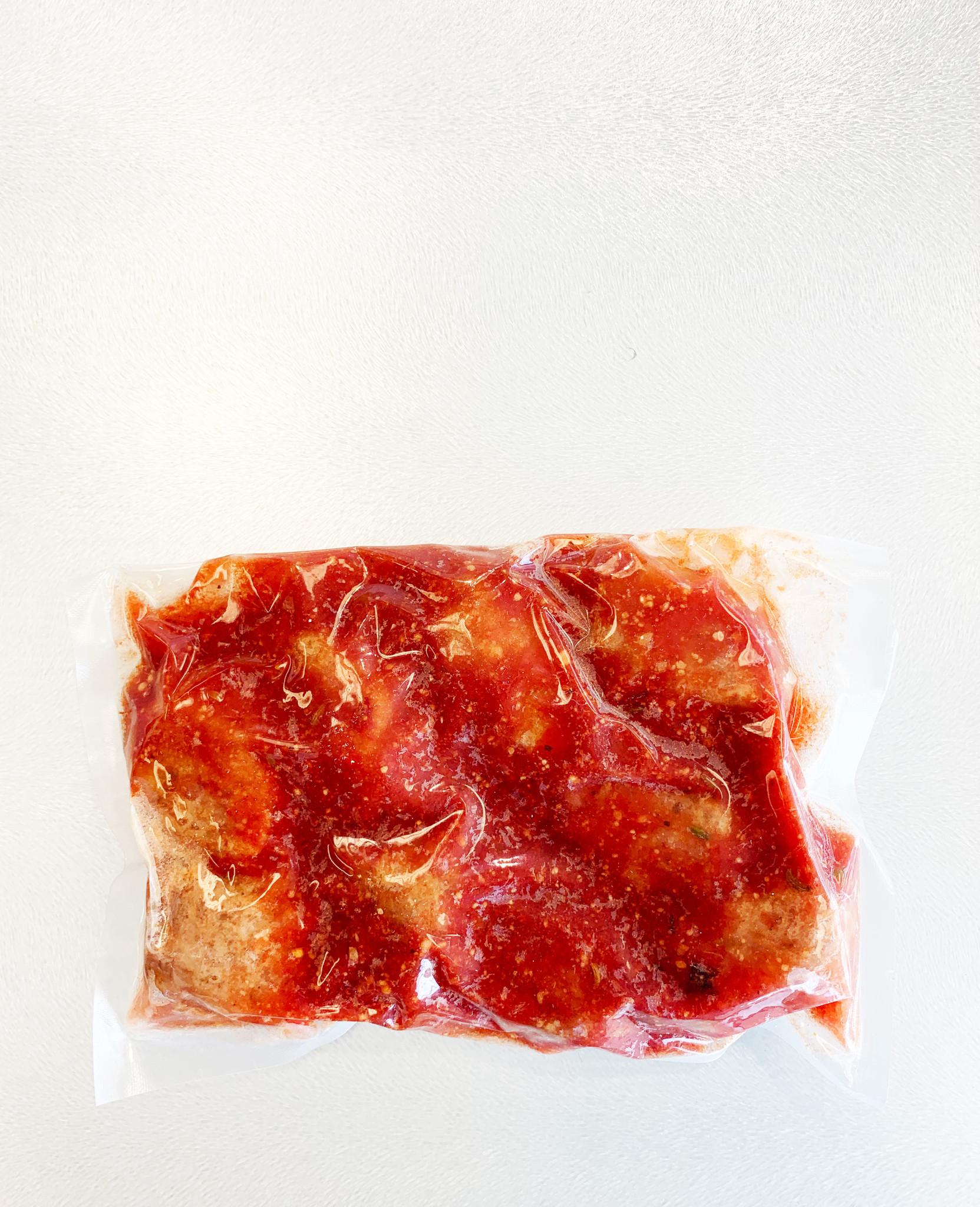 Boulettes de veau & sauce marinara