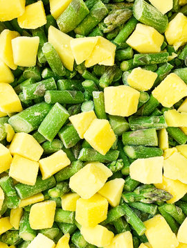 Asparagus & mangoes