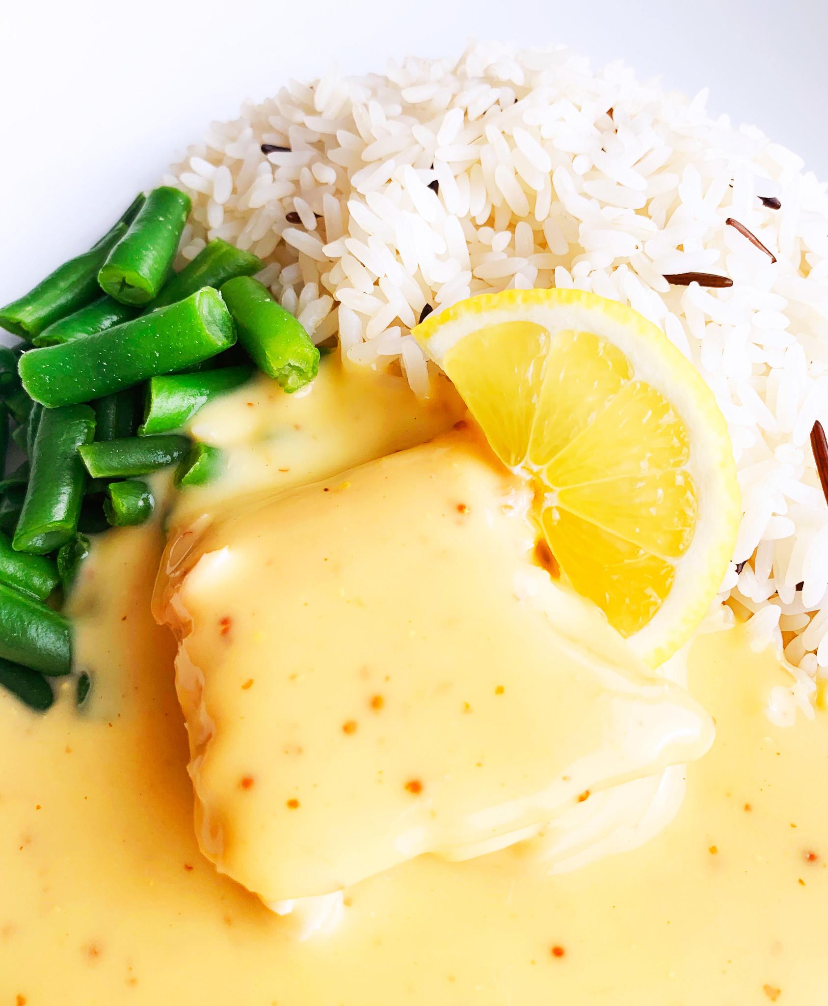 Saumon dijon & érable, haricots verts & riz sauvage (325g)