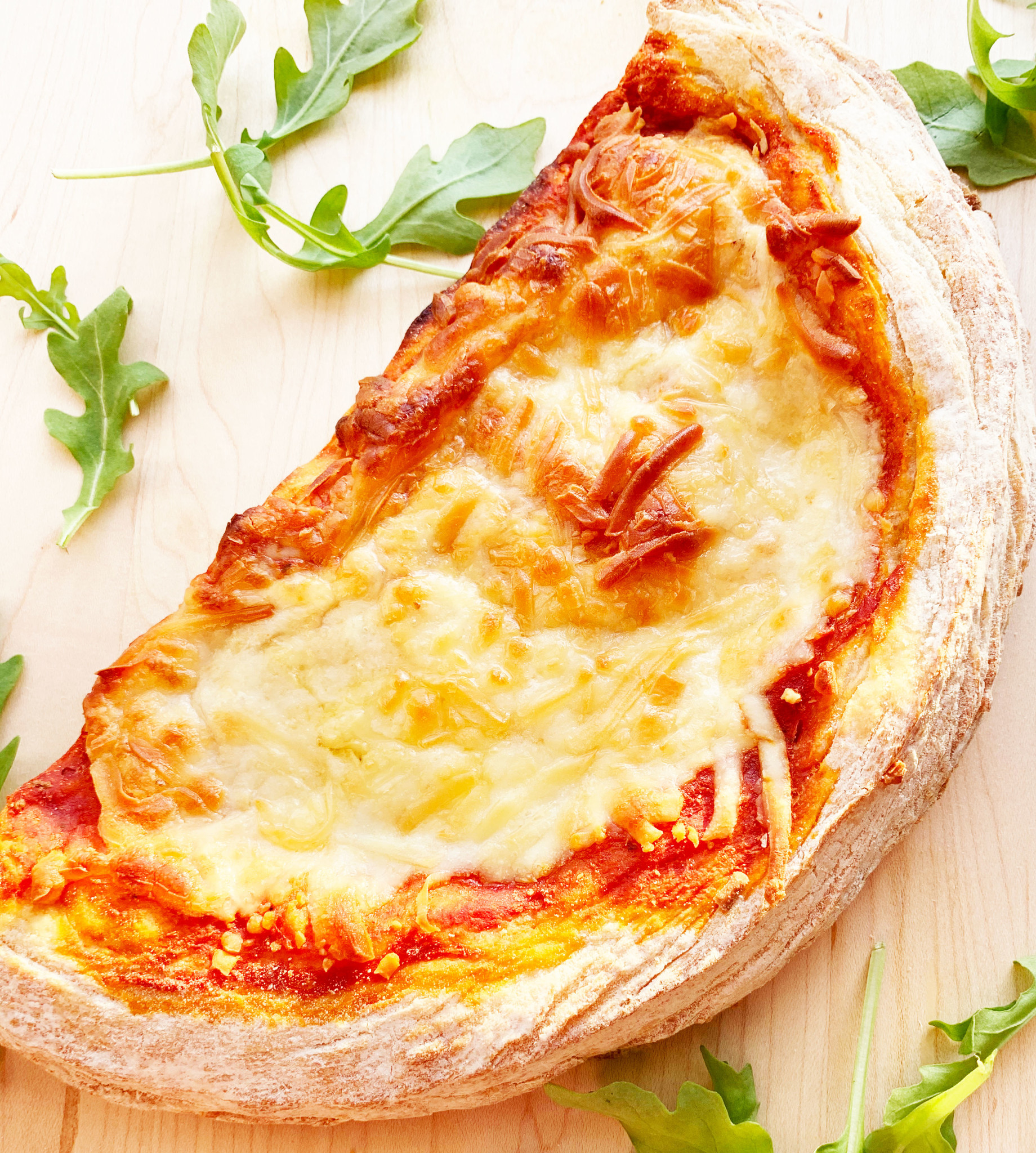 New York style cheese pizza with homemade crust