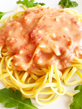 Linguini deux saumons & sauce rosée (325g)
