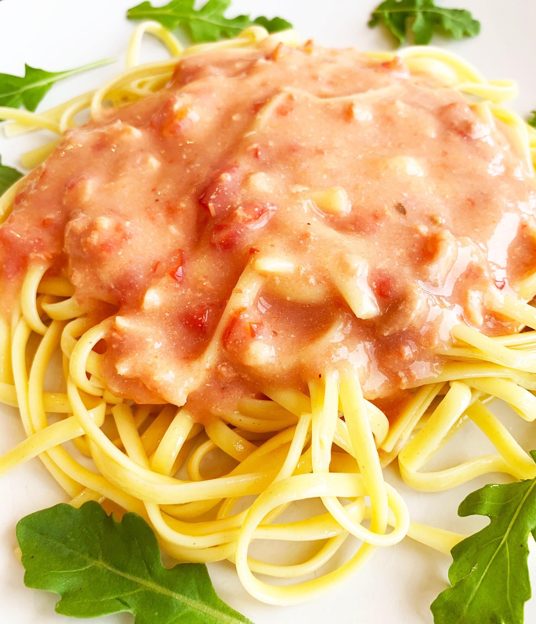 Two-salmon linguini & pink sauce (175g)