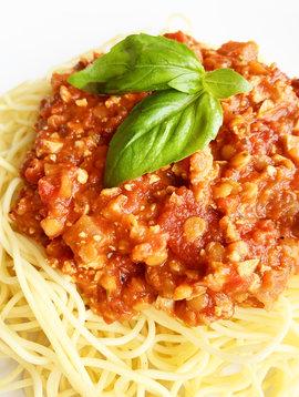 Sauce à spaghetti végétalienne (PROMO ÉCLAIR, prix régulier: 8.50)