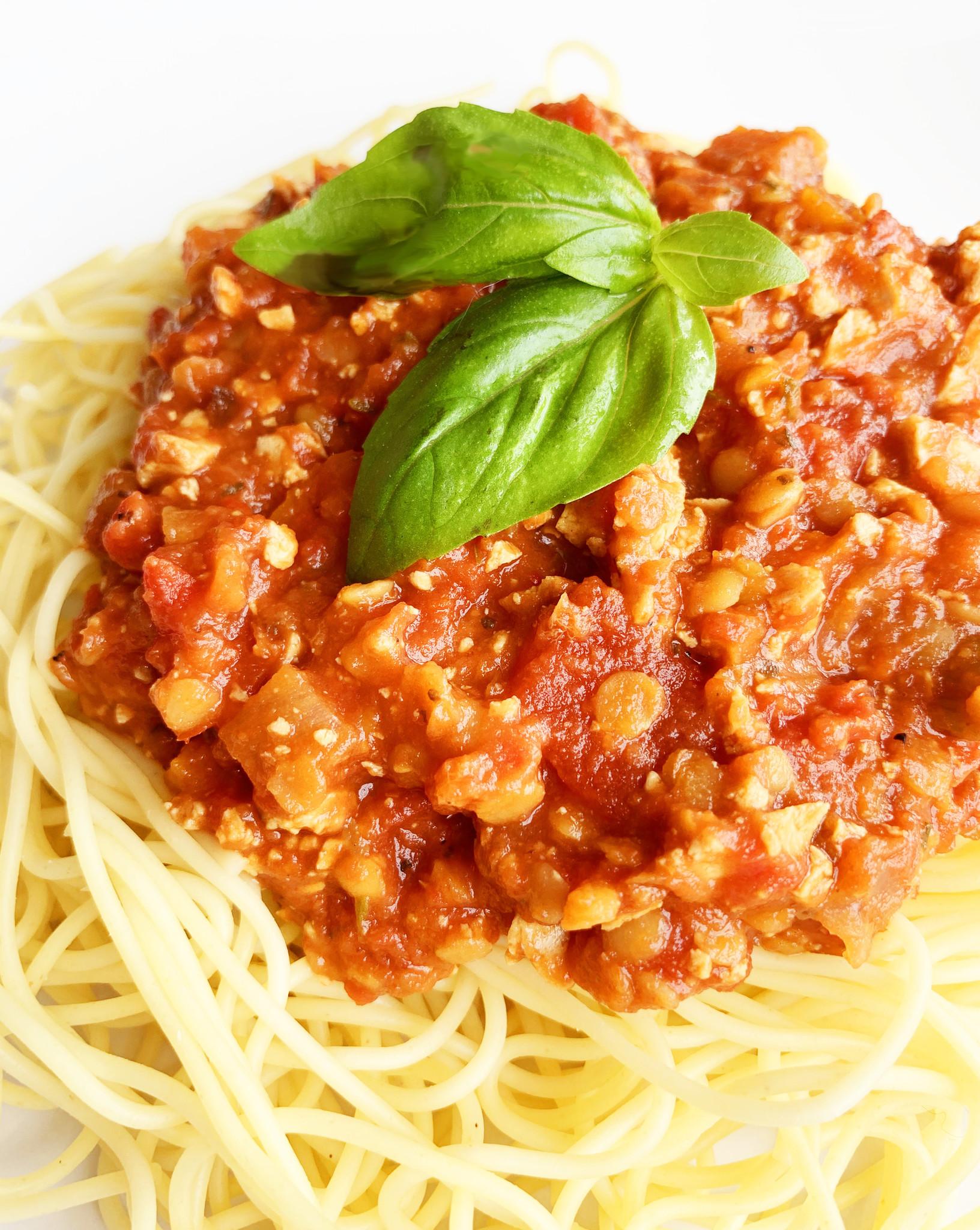 Sauce à spaghetti végétalienne