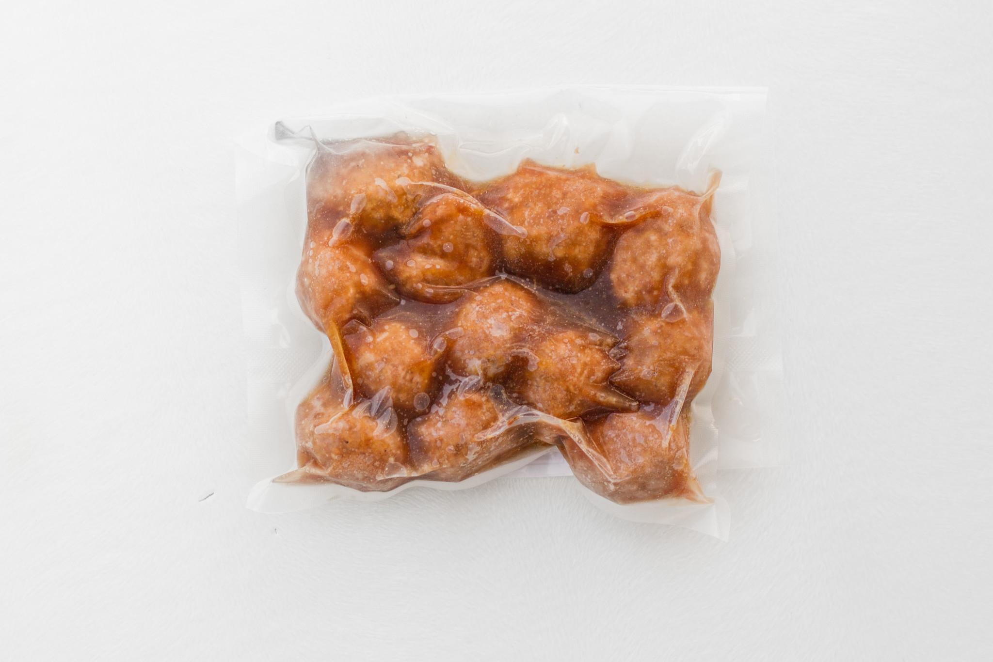 Mini meatballs & teriyaki sauce