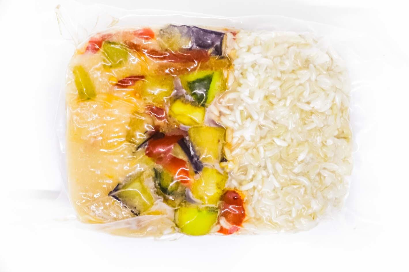 Filet de porc, sauce Toscane, légumes & riz brun (325g)