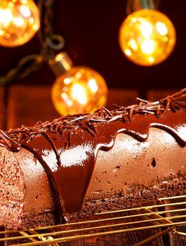 Bûche chocolat (LIQUIDATION, prix régulier: 20.00)