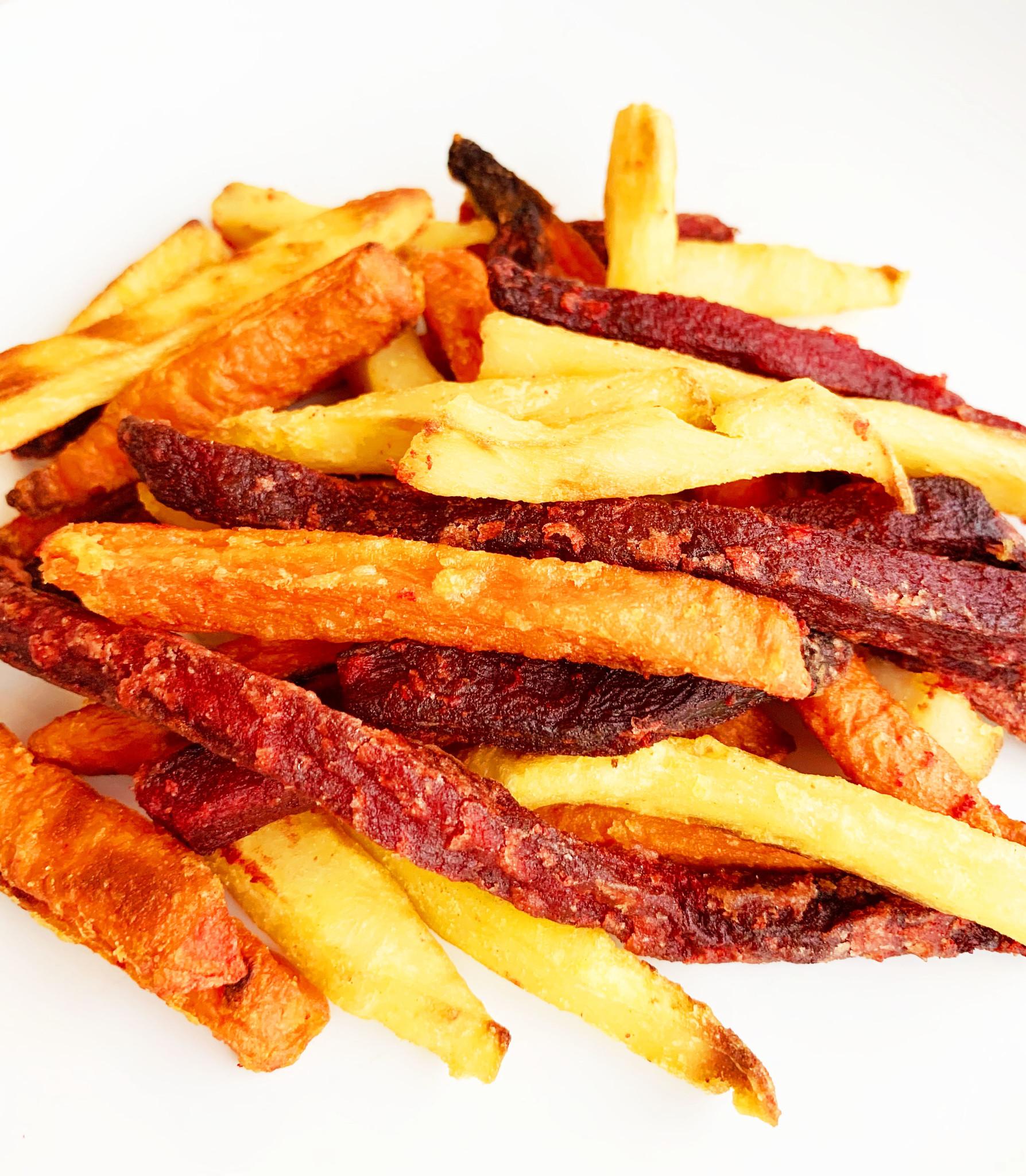 Root vegetables fries