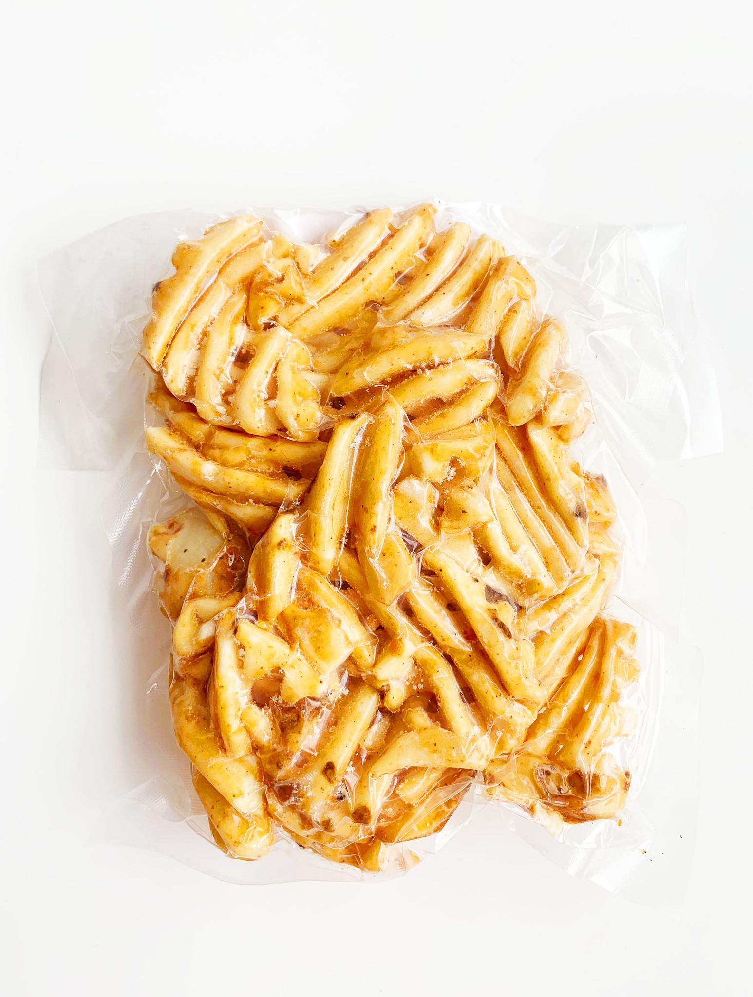 Pommes de terre gaufrées