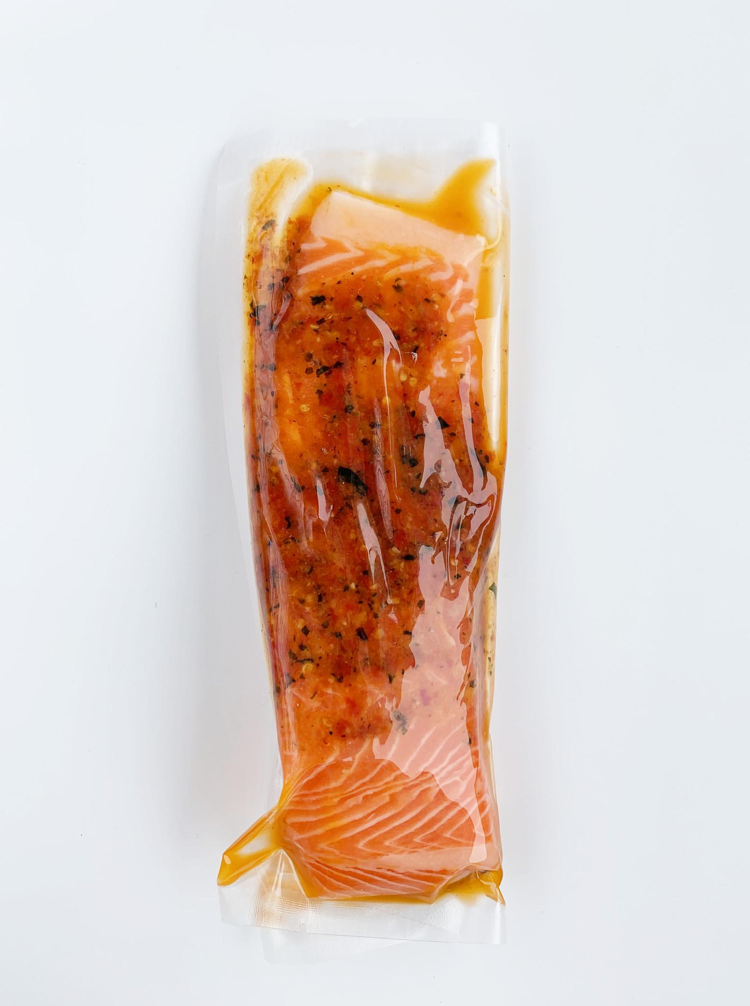 Truite saumonée au pesto de tomates séchées