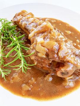 Jarret d'agneau sauce demi-glace, vin rouge & romarin (Circulaire Février, prix régulier: 15.00)