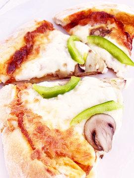 All-dressed pizza on artisan crust